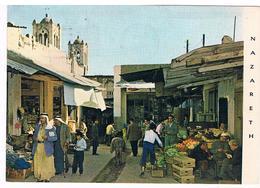 CPSM : NAZARETH , Le Marché, La Vie Animée De La Rue - Israel