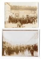 PAS EN ARTOIS  (62) Guerre 1914-18 Deux Anciennes Photographies Vente De Chevaux Réformés 1915 - Sonstige Gemeinden