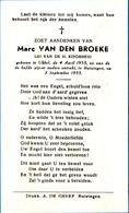 DOODSPRENTJE MARC VAN DEN BROEKE ° UKKEL 1955 + 1955  KIND ENFANT - Images Religieuses
