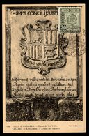 ANDORRE ANDORRA Espagnol ECU ARMOIRIES 30 Centimos Carte Maximum OPJ FDC 1 ENE 1953 TTB 2 Scan - Andorre Espagnol