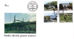 Transkei - 1986 Hydro-Electric Power Stations FDCt # SG 189-192 , Mi 189-192 - Transkei