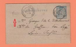 CACHET Ste HERMINE VENDEE   SUR CARTE LETTRE + CACHET OR - Marcophilie (Lettres)