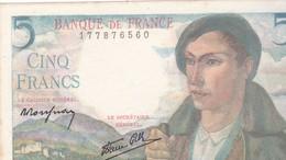 5 FRANCS BERGER TYPE 1943 / SPLENDIDE / 05/08/1943 - 1871-1952 Anciens Francs Circulés Au XXème