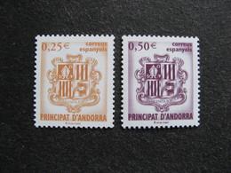 Andorre Espagnol : TB Paire N° 275 Et N° 276, Neufs XX. - Andorre Espagnol