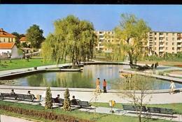 Postcard, Romania, Pitesti, Park In The Bucharest Way District, Used 1973 - Rumänien