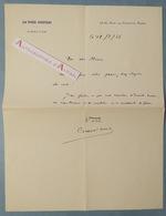 L.A.S 1936 Adéodat COMPERE-MOREL Politique & écrivain Né à Breteuil-sur-Noye Le Petit Journal Lettre Autographe Sernhac - Autographes