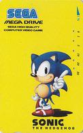 Télécarte Japon / 110-011 - Animal - HERISSON SEGA SONIC - HEDGEHOG Japan Phonecard - IGEL - 54 - Télécartes