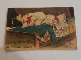 Humour - C'est La Pleine Lune M'a P'tite Adèle - Journal, Le Canard, Bougie, Femme Forte, Grivoiserie, Souris - Humor