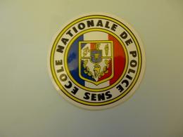 Autocollant  Ecole Nationale De Police Sens - Autocollants