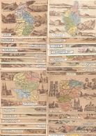 Lot De  71 CHROMOS De Departements   ,tous Différents :ceux Figurant Sur Les Scans - Géographie