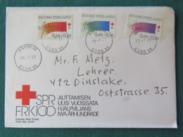 Finland 1977 FDC Cover To Dinslake - Red Cross - Finlande