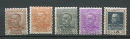 10254  ITALIE  N° 204/8*  Victor-Emmanuel III  1927-29  TB - 1900-44 Victor Emmanuel III