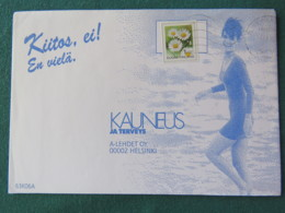 Finland 1996 Cover To Helsinki - Flowers Adhesive Unperforated - Finlande