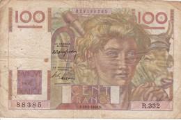 100 FRANCS JEUNE PAYSAN / 19/05/1949 - 1871-1952 Circulated During XXth