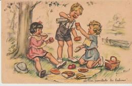 C P A. - GERMAINE  BOURET -ON S'EN POURLECHE LES BABINES - N° 9 - SÉRIE 1938 - DECHAUX - COMITÉ NATIONAL DES COLONIES DE - Bouret, Germaine