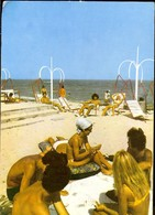 Postcard, Romania, Costinesti, On The Beach, Used 1987 - Rumänien