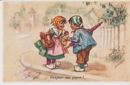 C P A. - GERMAINE  BOURET - BONJOUR MA PAYSE - N° 10 - SUPER LUXE - Bouret, Germaine
