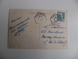 Rosieres Cher Recette Auxiliaire Obliteration Sur Lettre - Marcophilie (Lettres)