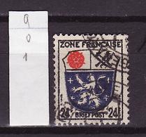 Allemagne Zone Française - Germany - Deutschland 1945 Y&T N°9 - Michel N°9 (o) - 24p Sarre - Zone Française