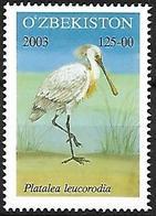 Uzbekistan 2003 - MNH - Eurasian Spoonbill (Platalea Leucordia - Vögel