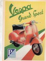 Vespa Grand Sport By Piaggio   -  Publicite  -  CPM - Motos