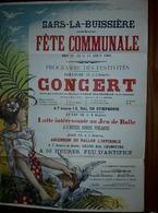 Sars-La -Buissière Fête Communale  En 1901 - Lobbes