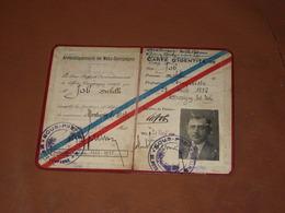 CARTE D'IDENTITE MOSELLE Union Des Maires De METZ-CAMPAGNE. 1929/1932. - Vieux Papiers