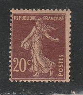 FRANCE N° 139 20C BRUN ROUGE PAPIER GC NEUF SANS CHARNIERE - Varietà E Curiosità