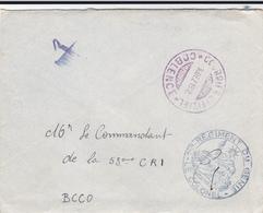 PIE-VPT-18-043 : ENVELOPPE. 1° REGIMENT DU GENIE. LE COLONEL. COURRIER OFFICIEL COBLENCE. - French Zone