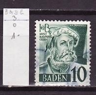 Allemagne Bade - Germany - Deutschland 1947-48 Y&T N°3 - Michel N°3 (o) - 10p H Baldung Grien - French Zone