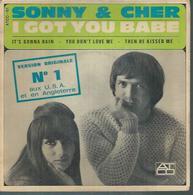 "45 Tours EP - SONNY & CHER   -  ATCO 101  -   "" I GOT YOU BABE "" + 3  ( LABEL ORANGE Et BLANC ) - Vinyles"