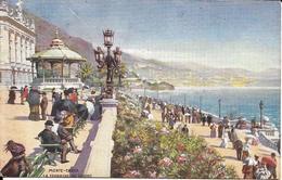 MONTE CARLO  TERRASSE DU CASINO   (GILETTE ECRITE  BEI HERBESTHAL ALLEMAGNE  ) - Monte-Carlo