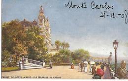 CASINO DE MONTE CARLO  TERRASSE DU CASINO   (GILETTE ECRITE  BEI HERBESTHAL ALLEMAGNE  ) - Monte-Carlo