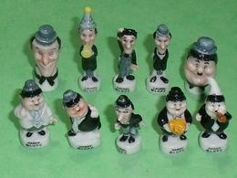 Série De Feves Complète : Laurel Et Hardy - Dessins Animés