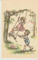 C P A. - GERMAINE  BOURET - 1937 - TIENS BON LA RAMPE - GRANDS MAGASINS DE LA SAMARITAINE - HENRI MEYER - - Bouret, Germaine