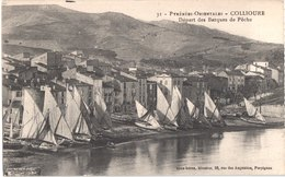 FR66 COLLIOURE - Brun 31 - Départ Des Barques De Pêche - Belle - Collioure