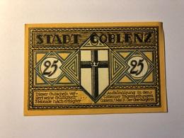 Allemagne Notgeld Coblenz 25 Pfennig - [ 3] 1918-1933 : Repubblica  Di Weimar