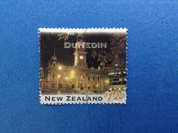 NUOVA ZELANDA NEW ZEALAND TURISTICA CITTA' DUNEDIN $ 1.20 FRANCOBOLLO USATO STAMP USED - Nuova Zelanda