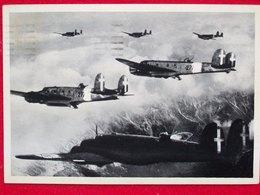 AVIAZIONE MILITARE ITALIANA  CICOGNE IN MISSIONE BELLICA Cartolina Originale Dell'epoca - 1939-1945: 2ème Guerre
