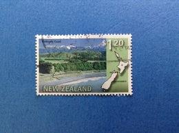 NUOVA ZELANDA NEW ZEALAND KAIKOURA COAST TRENO $ 1.20 FRANCOBOLLO USATO STAMP USED - Nuova Zelanda