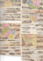 Lot De  51 CHROMOS De Départements   ,tous Différents :ceux Figurant Sur Les Scans - Géographie