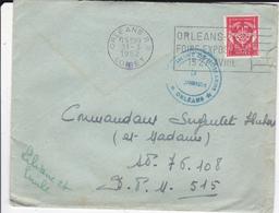 PIE-VPT-18-052 :  POSTE AUX ARMEES. REGIMENT DE HUSARDS. ORLEANS. 31 MARS 1952. - Postmark Collection (Covers)
