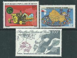 Bénin  N° 532 / 34   X   Les 3 Valeurs Trace De Charnière Sinon TB - Bénin – Dahomey (1960-...)