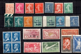 France Belle Collection De Bonnes Valeurs Neufs ** MNH 1900/1930. Gommes D'origine. TB. A Saisir! - France