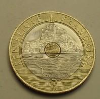 1995 - France - 20 FRANCS, Mont Saint Michel, Abeille, KM 1008.2, Gad 871 - France