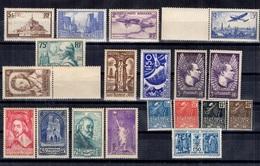 France Belle Collection De Bonnes Valeurs Neufs ** MNH 1930/1937. Gommes D'origine. TB. A Saisir! - France