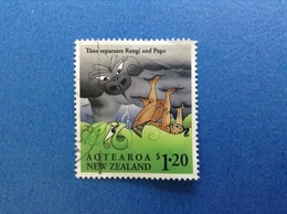 NUOVA ZELANDA NEW ZEALAND MITOLOGIA RANGI AND PAPA $ 1.20 FRANCOBOLLO USATO STAMP USED - Nuova Zelanda