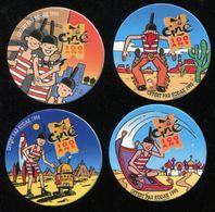 4 Pogs KODAK 1995 - Autres Collections
