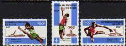 Bénin P.A. N°  251 / 53 X Jeux Olympiquies De Montréal Les 3 Valeurs Trace De Charnière Sinon TB - Bénin – Dahomey (1960-...)