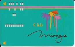 HOTEL MIRAGE LAS VEGAS NEVADA USA - Carte De Club / Club Card - Cartes De Casino